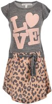 "Love at First Sight Little Girls' Toddler ""Spotted Block"" Belted Dress"