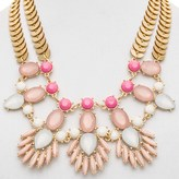 Cara Accessories Marquis and Oval Statement Bib Necklace