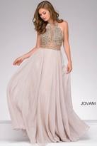 Jovani Chiffon Beaded Bodice Prom Dress 41597
