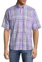 Tailorbyrd Short Sleeve Cotton Button-Down Shirt