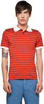 This is Not a Polo Shirt by band of outsiders Striped Polo in Red/Black Bar Stripe