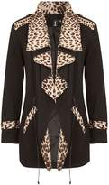 Izabel London Contrast Leopard Print Cardigan