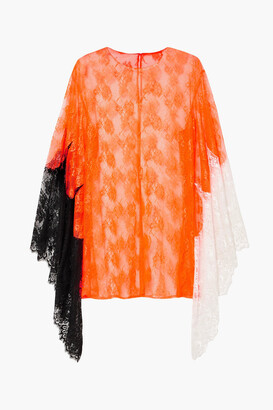 Christopher Kane Color-block Lace Top