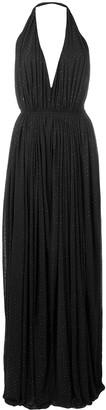 Saint Laurent Pleated Evening Dress
