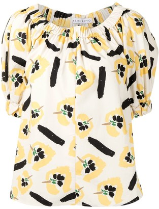 REJINA PYO Cleo floral print top
