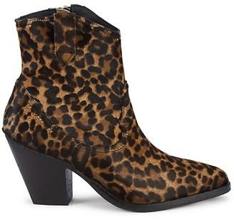 AllSaints Rolene Leopard Calf-Hair Booties