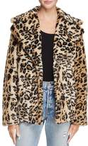 Aqua Leopard Print Faux Fur Coat - 100% Exclusive