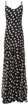 Rat & Boa - Camille Polka-dot Georgette Dress - Black White