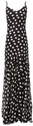Rat & Boa - Camille Polka-dot Georgette Dress - Womens - Black White