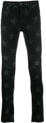 TAKAHIROMIYASHITA TheSoloist. Star Print Skinny Jeans