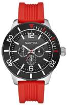 Nautica Men's A14626G NSR 11 Multifunction Red Resin Strap Watch