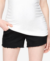 A Pea in the Pod Maternity Frayed-Hem Shorts