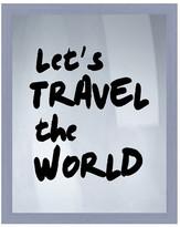 """PTM Images Let's Travel Framed Silkscreen Wall Art - 16.75\"""" x 20.75\"""""""