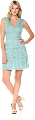 M Missoni Women's Solid Knit Vneck Dress
