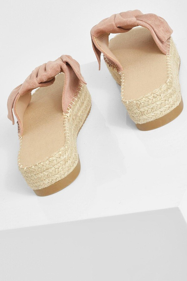 Thumbnail for your product : boohoo Ruched Twist Knot Detail Sandals