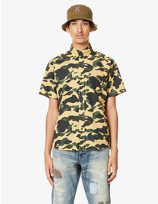 A Bathing Ape Camouflage-print cotton shirt