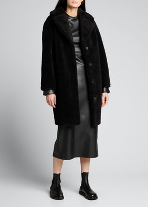 Stand Studio Camille Faux-Fur Teddy Cocoon Coat