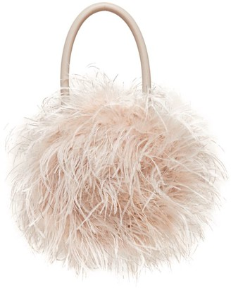 Loeffler Randall Zadie Feather Top Handle Bag