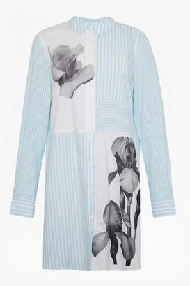 French Connection Serrana Stripe Cotton Shirt Dress