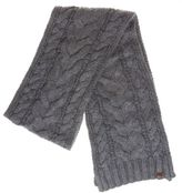 Timberland New Womens Grey Textured Knit Cotton/Nylon Scarf Scarves