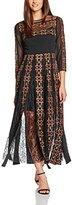 French Connection Women's Prila Drape Rdnk Maxi Maxi Long Sleeve Dress,10