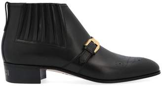 Gucci G Brogue Ankle Boots