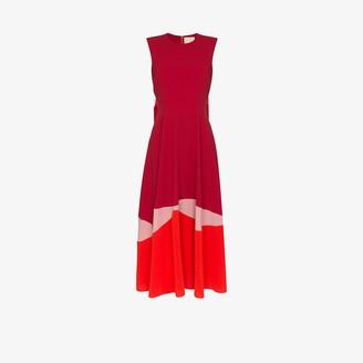 Roksanda Wave colour block midi dress