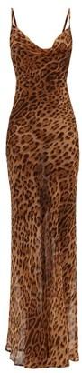 Rat & Boa - Valentina Leopard Print Silk Chiffon Dress - Womens - Leopard