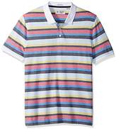 Original Penguin Men's Short Sleeve Birdseye Striped Polo