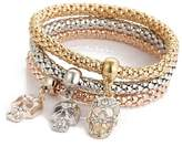 Celendi 3pcs Charm Women's Bracelet Gold Silver Rose Gold Rhinestone Bangle Reinement Jewelry Set