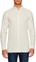 Naked & Famous Denim Solid Mandarin Collar Sportshirt