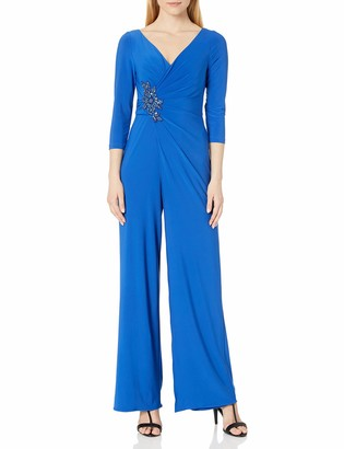 Adrianna Papell Women's Shirred Jersey Jumpsuit