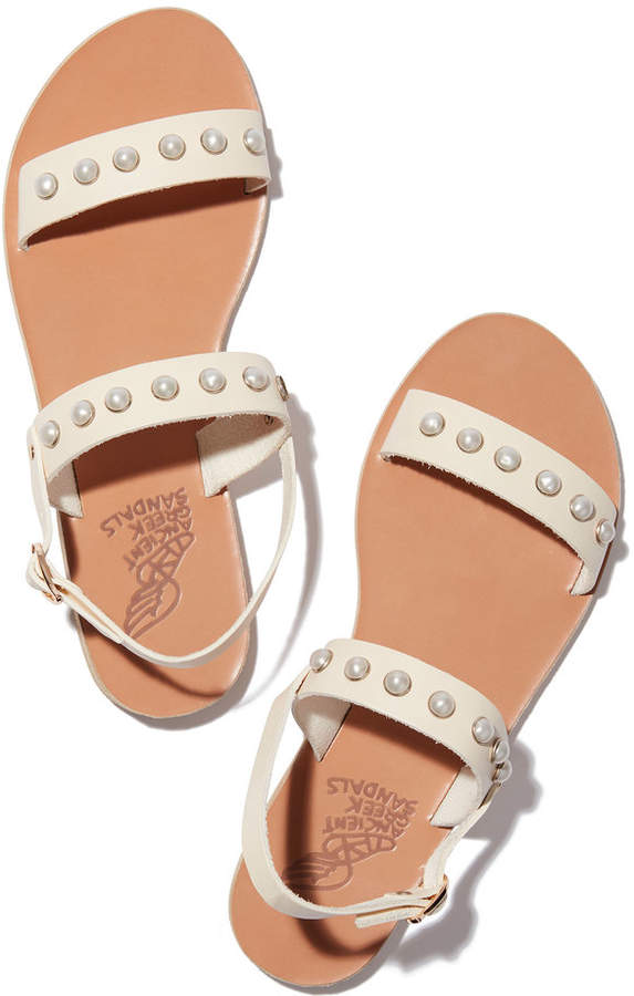 Ancient Greek Sandals Clio Pearl Sandals