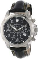Wenger Men's 78255 GST Chrono Stainless-Steel Leather Band Watch