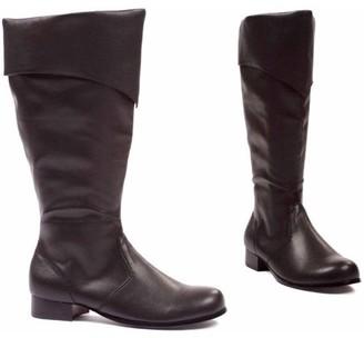Ellie Shoes Bernard Black Boots Men's Adult Halloween Costume Accessory