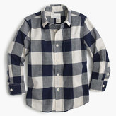 J.Crew Kids' crinkle poplin shirt in buffalo plaid