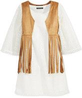 Sequin Hearts Girls' 2-Pc. Fringe Vest & Shift Dress Set
