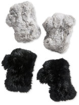 Surell Fingerless Rabbit Fur Gloves