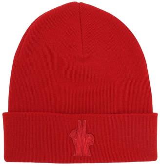 MONCLER GRENOBLE Logo Virgin Wool Beanie