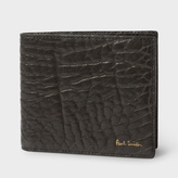 Paul Smith Men's Grey Heavy Grained Leather Billfold Wallet