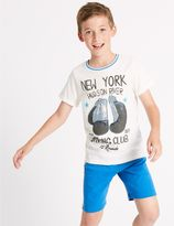 Marks and Spencer Pure Cotton Short Pyjamas (3-16 Years)