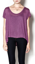Knot Sisters Purple Off the Shoulder Top