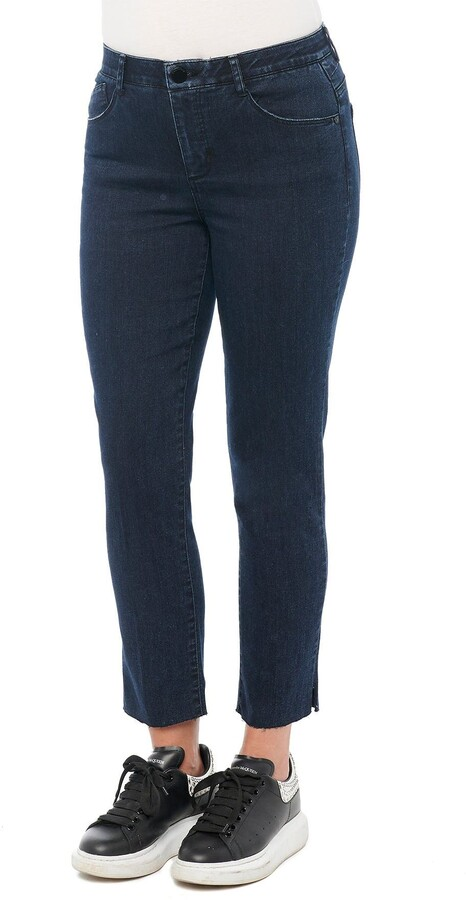 Thumbnail for your product : Democracy High Rise Ankle Skinny Jeans