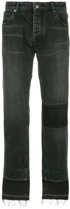 Ambush straight leg patch jeans