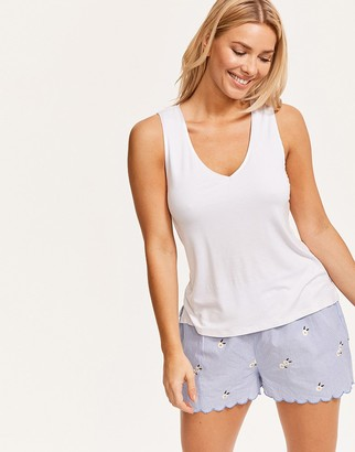 Figleaves Daisy Embroidered Hidden Support Cami and Short Set
