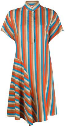 Akris Punto striped Mandarin-collar shirtdress