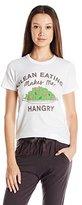 Junk Food Clothing Women's Clean Eating Makes Me Hangry Graphic Short Sleeve Tee
