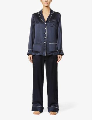 Olivia von Halle Coco silk-satin pyjama set