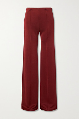 Valentino Ponte Wide-leg Pants - Red