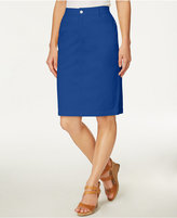 Charter Club Denim Pencil Skirt, Only at Macy's